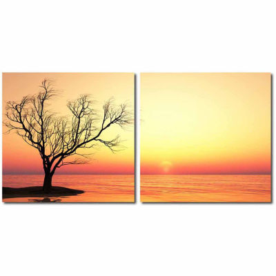 Blazing Horizon Mounted  2-pc. Photography Print Diptych Set