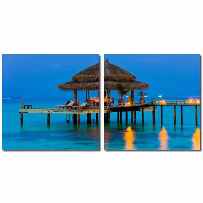 Dinner in the Tropics Mounted  2-pc. Photography Print Diptych Set