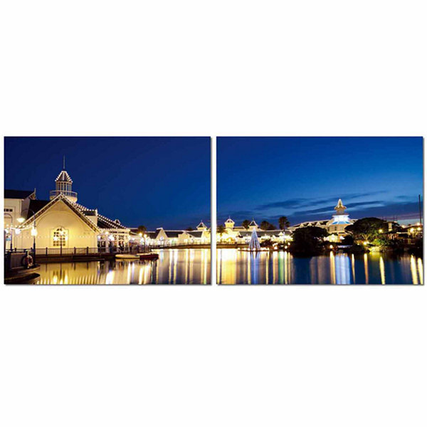 Port Elizabeth Nightlife Mounted  2-pc. Photography Print Diptych Set