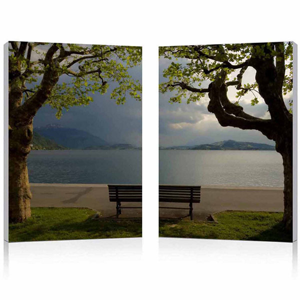 Pristine View Mounted  2-pc. Photography Print Diptych Set
