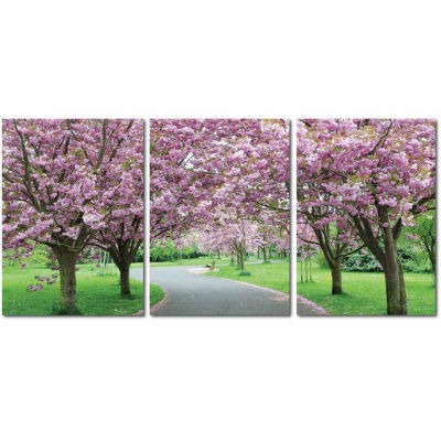 Spring in Bloom Mounted  3-pc. Photography Print Triptych Set