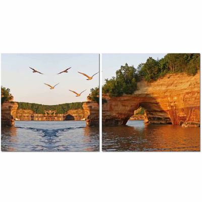 Stone Arches Mounted  2-pc. Photography Print Diptych Set