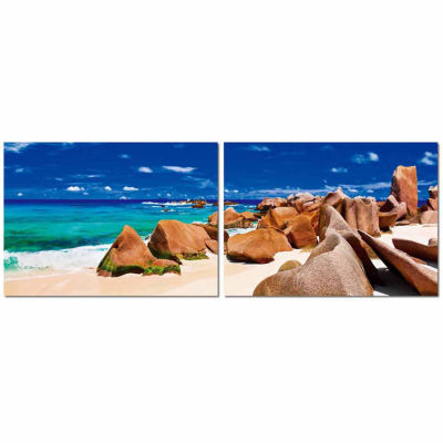 Tasmanian Tide Mounted  2-pc. Photography Print Diptych Set