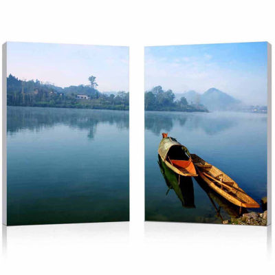 Traditional Travel Mounted  2-pc. Photography Print Diptych Set