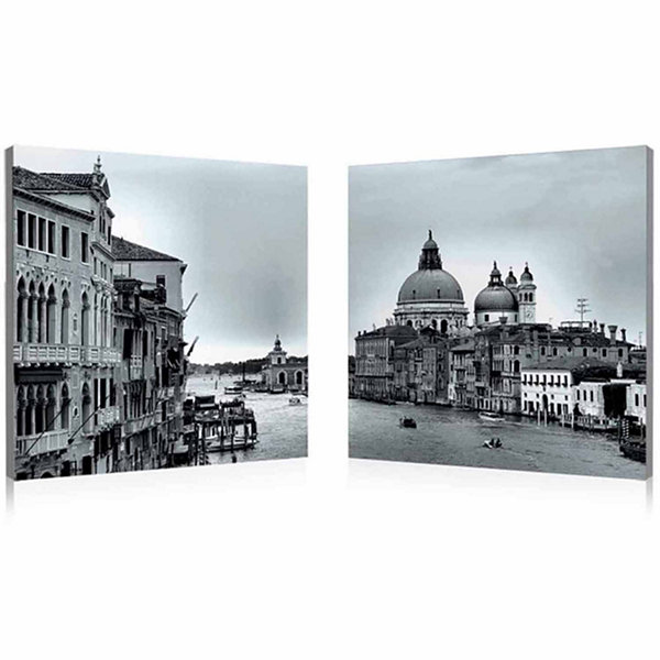 Timeless Venice Mounted  2-pc. Photography Print Diptych Set
