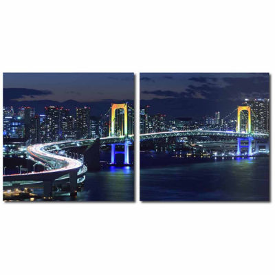 Urban Pulse Mounted  2-pc. Photography Print Diptych Set