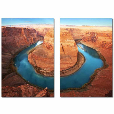 Wraparound Waterway #1 Mounted  2-pc. PhotographyPrint Diptych Set