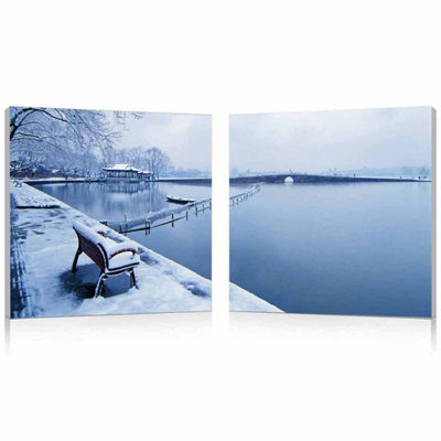 Wintry Wonder Mounted  2-pc. Photography Print Diptych Set