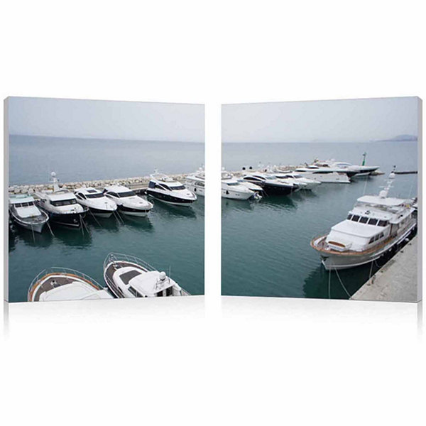 Yacht Congregation Mounted  2-pc. Photography Print Diptych Set