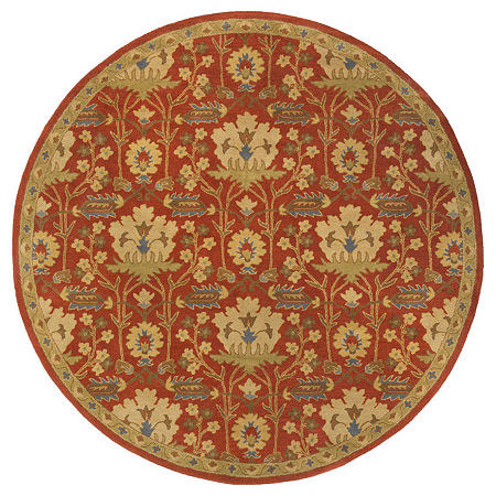 Decor 140 Maximian Hand Tufted Round Indoor Rugs, One Size , Red