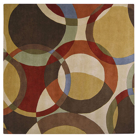 Decor 140 Gavar Hand Tufted Square Indoor Rugs, One Size , Brown