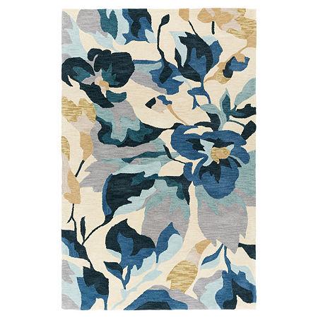 Decor 140 Keya Hand Tufted Rectangular Indoor Rugs, One Size , Blue