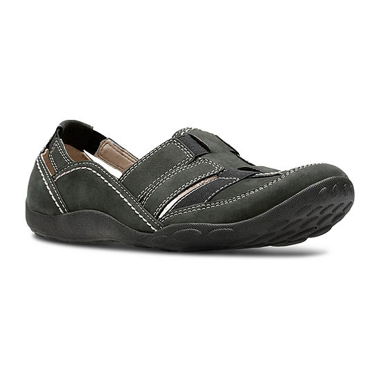 Clarks® Haley Stork Nubuck Slip-On Shoes
