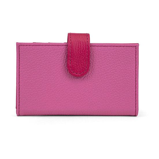 Mundi Leather Debbie Card Case RFID Blocking Pocketmate Wallet