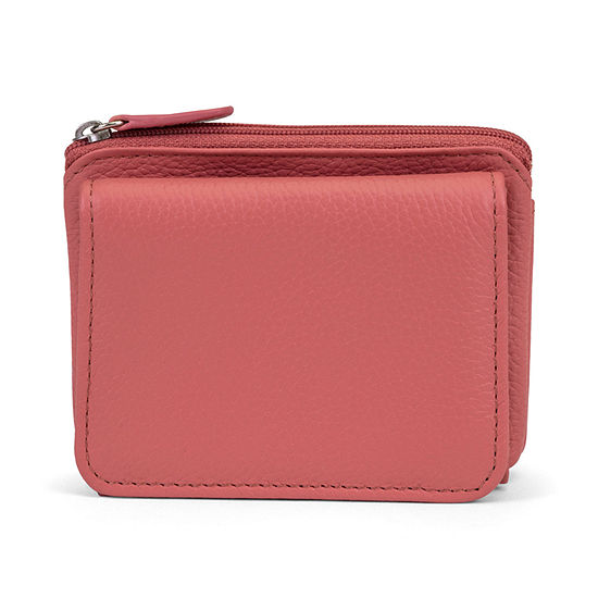 Mundi Rio Leather Mini RFID Blocking Tri Fold Wallet