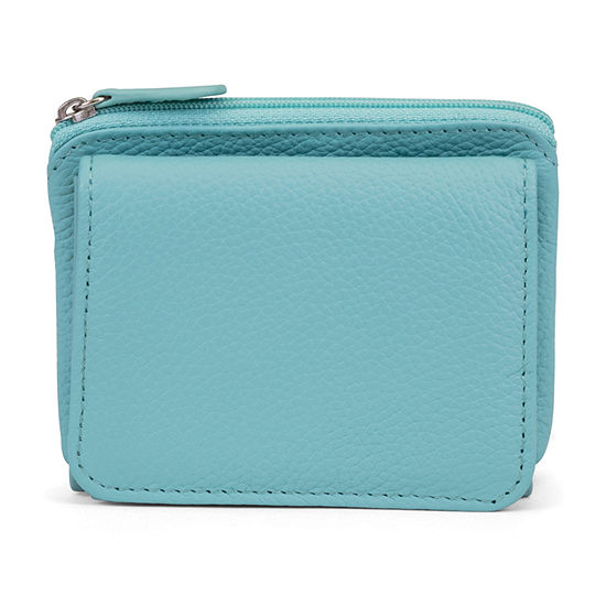 Mundi Rio Leather Mini RFID Blocking Tri Fold Wallet