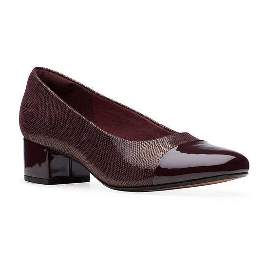 Clarks Womens Chartli Diva Pumps Block Heel