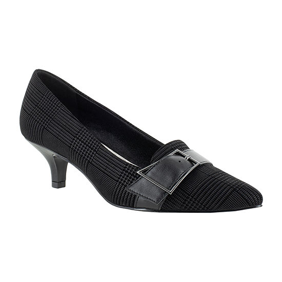 Easy Street Womens Exquisite Pumps Pointed Toe Kitten Heel
