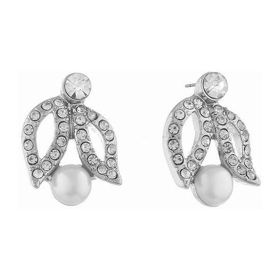 Monet Jewelry White 19mm Stud Earrings