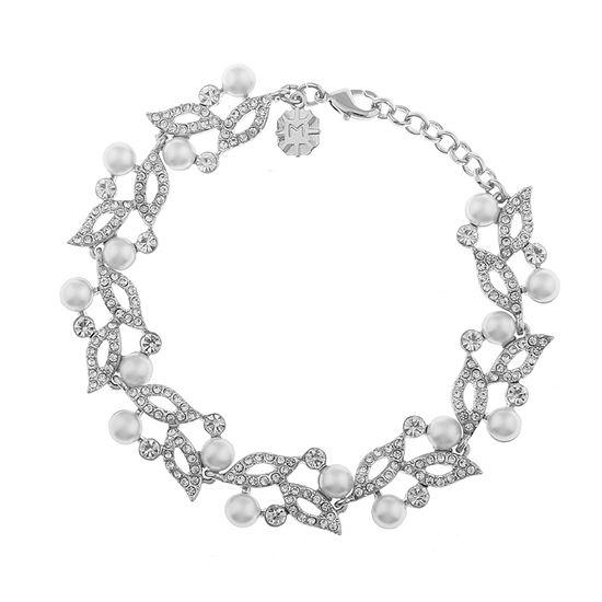 Monet Jewelry White Chain Bracelet