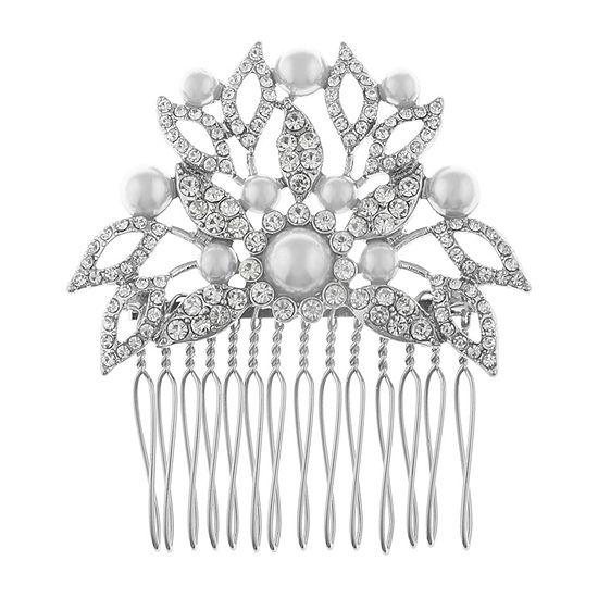 Monet Jewelry White Hair Comb