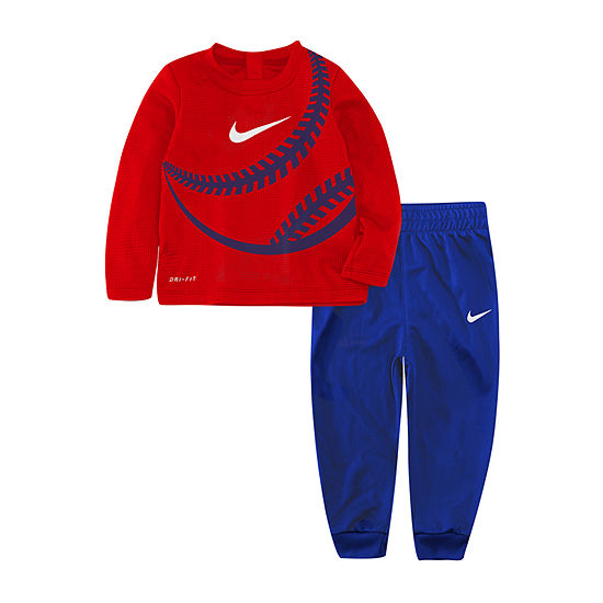Nike Dri-Fit Baseball Boys 2-pc. Geometric Pant Set Toddler