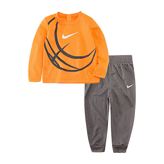 Nike Dri-Fit Soccer Ball Boys 2-pc. Geometric Pant Set Toddler