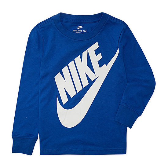 Nike Toddler Boys Round Neck Long Sleeve Graphic T-Shirt