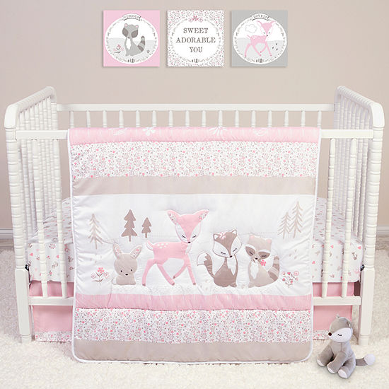 Trend Lab Sammy And Lou Forest Friends 4 Pc Crib Bedding Set