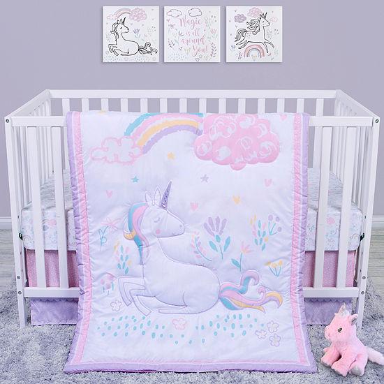 Trend Lab Sammy And Lou Sweet Unicorn 4 Pc Crib Bedding Set