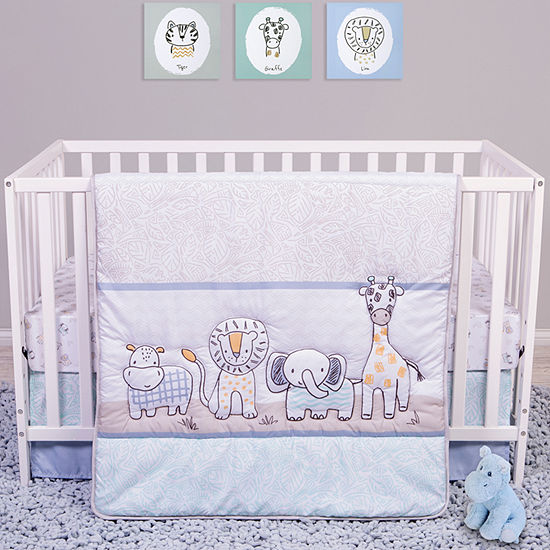 Trend Lab Sammy And Lou Safari Yearbook 4-pc. Crib Bedding Set