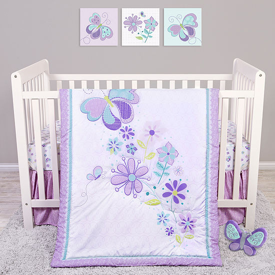 Trend Lab Sammy And Lou Butterfly Meadow 4-pc. Crib Bedding Set