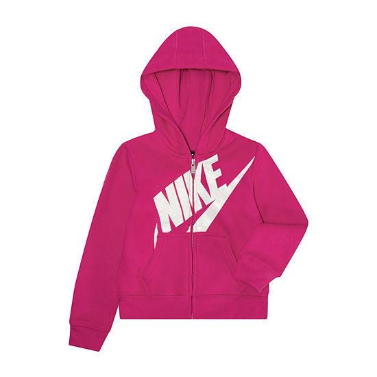 Nike Girls Hooded Neck Long Sleeve Sweatshirt - Toddler