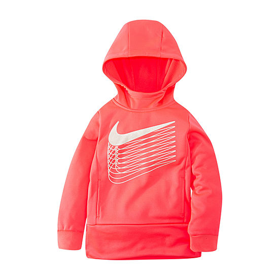 Nike Girls Hooded Neck Long Sleeve Sweatshirt - Toddler