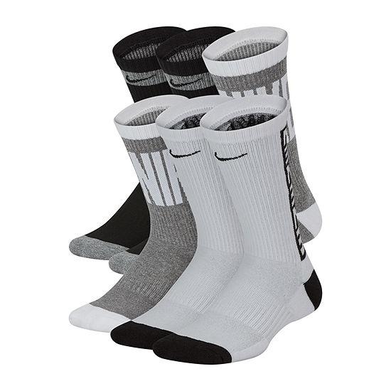 Nike Graphic Crew 6 Pair Crew Socks