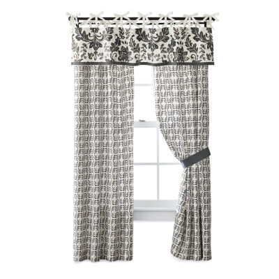 JCPenney Home Bailey Light-Filtering Tie-Top Set of 2 Curtain Panel