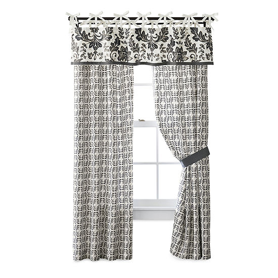 JCPenney Home Bailey Light-Filtering Tie-Top Curtain Panel
