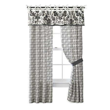 JCPenney Home Bailey Light-Filtering Tie-Top Set of 2 Curtain Panel, One Size , Multiple Colors