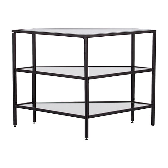 Namron Metal and Glass Corner TV Stand