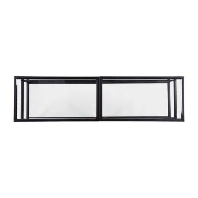 Bingof Metal and Glass 60 Inch TV Stand