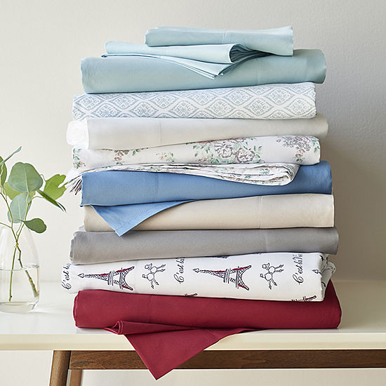 Home Expressions: Microfiber Plus Ultra Soft Easy Care Wrinkle Resistant Sheet Set! .99 – .99 (REG .00 – .00) at JCPenney!