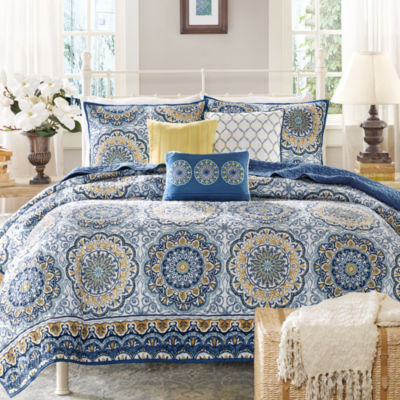 Awesome Madison Park Moraga 6 Pc. Quilted Coverlet Set