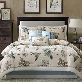 Madison Park Pierce 7 pc. Nature Comforter Set, Color: Beige