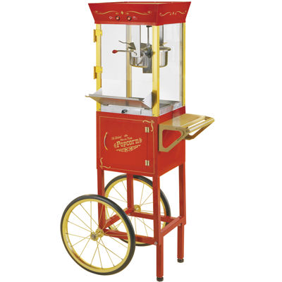 Nostalgia CCP510 53-Inch Tall Commercial 6-Ounce Kettle Popcorn Cart