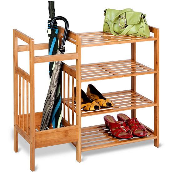 Honey-Can-Do® 4-Tier Bamboo Entryway Organizer
