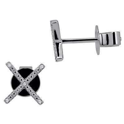 Diamond 14K White Gold Earring