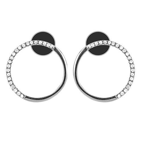 1/10 Diamond 14K White Gold Earring