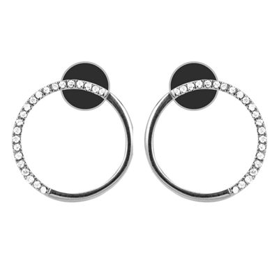 1/10 Diamond 14K White Gold Earring