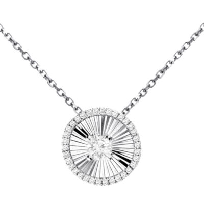 1/5 Diamond 14K White Gold Pendant
