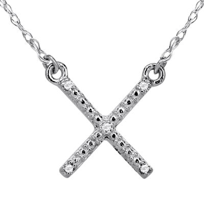 Diamond Accent 14K White Gold Necklace 1